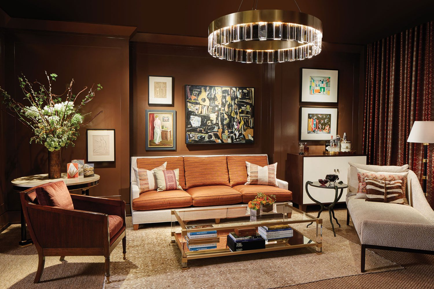 DreamHome Living room designed by luxury interior design icon,Soucie Horner Ltd.