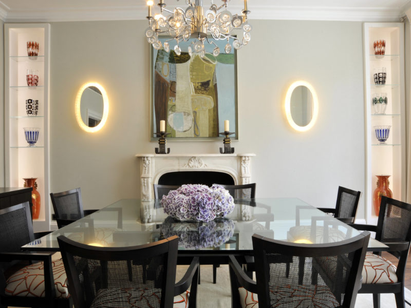 British Chic London Flat designed by Luxury Chicago Interior Designers, Soucie Horner, Ltd.