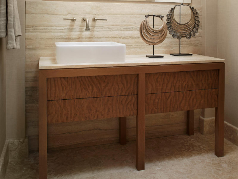 Custom Bathroom Vanity by Luxury Interior Designers - Soucie Horner, Ltd.