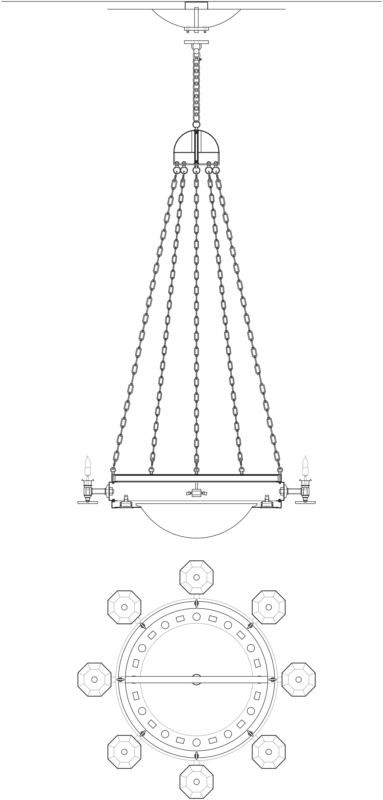 Star_Library_Chandelier_Elev&Plan