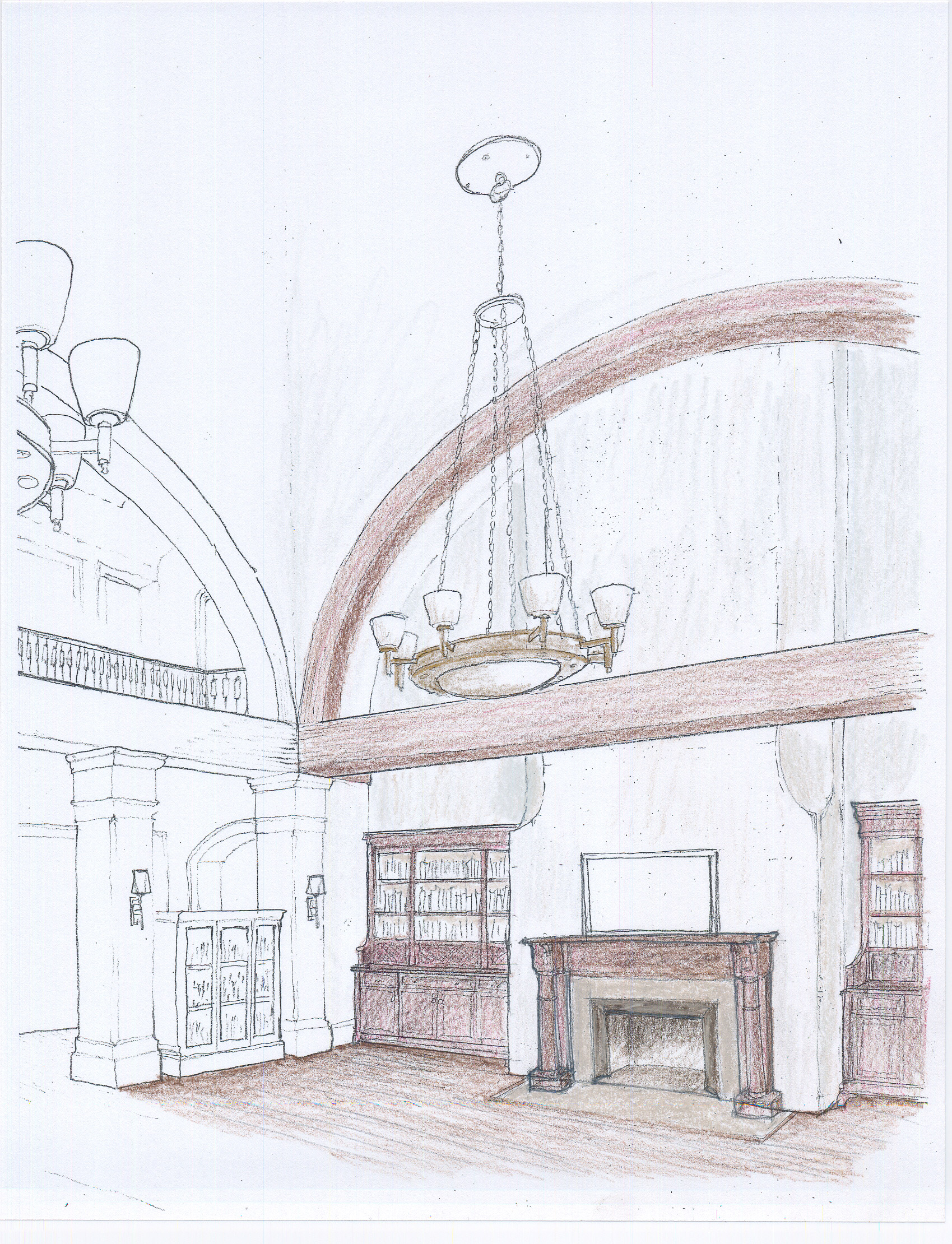 Star_Library_Chandelier_Sketch-3